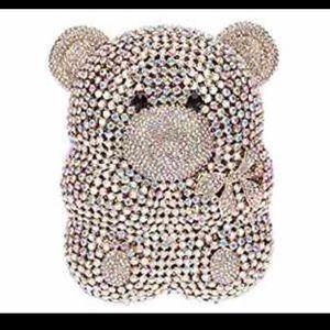 Handbags - Crystal teddy clutch 💋